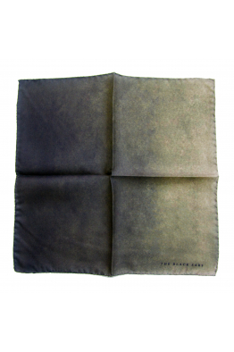 The Black Ears The Green Stone Silk Pocket Square