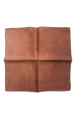 The Black Ears The Brown Stone Silk Pocket Square