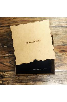 The Black Ears The Black Square Silk Pocket Square