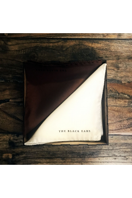 The Black Ears The Brown Square Silk Pocket Square