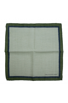 The Black Ears The Classic Style - Green Wool Pocket Square