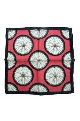The Black Ears The Red Wheel Wool Pocket Square