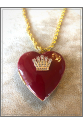 Vintage Kalp El İşi Mine Zincir Kolye