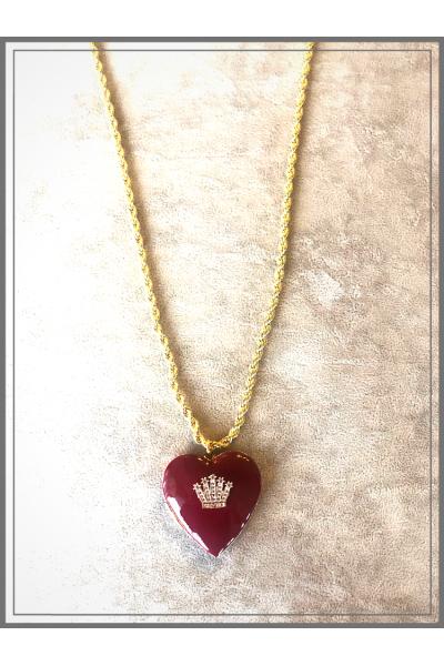 Jour Du Nil Vintage Kalp El İşi Mine Zincir Kolye