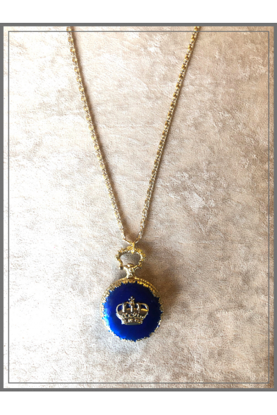 Vintage Köstek Kobalt Mavi El İşi Mine Zincir Kolye Vintage Köstek Kobalt Mavi El İşi Mine Zincir Kolye
