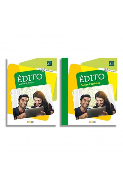 Edito A2 deux Methode de français + Cahier d activites + DVD (Renkli)