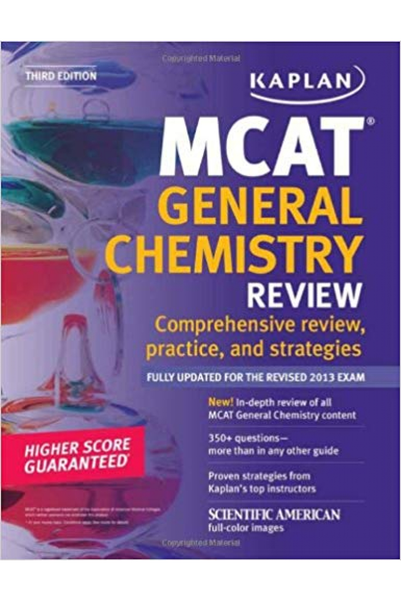 KAPLAN MCAT general chemistry review 2010