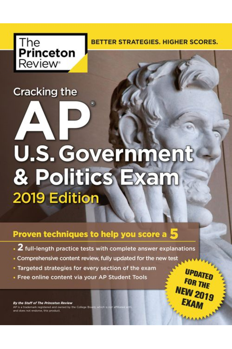 cracking the AP u.s. government and politics exam 2019 the princeton review