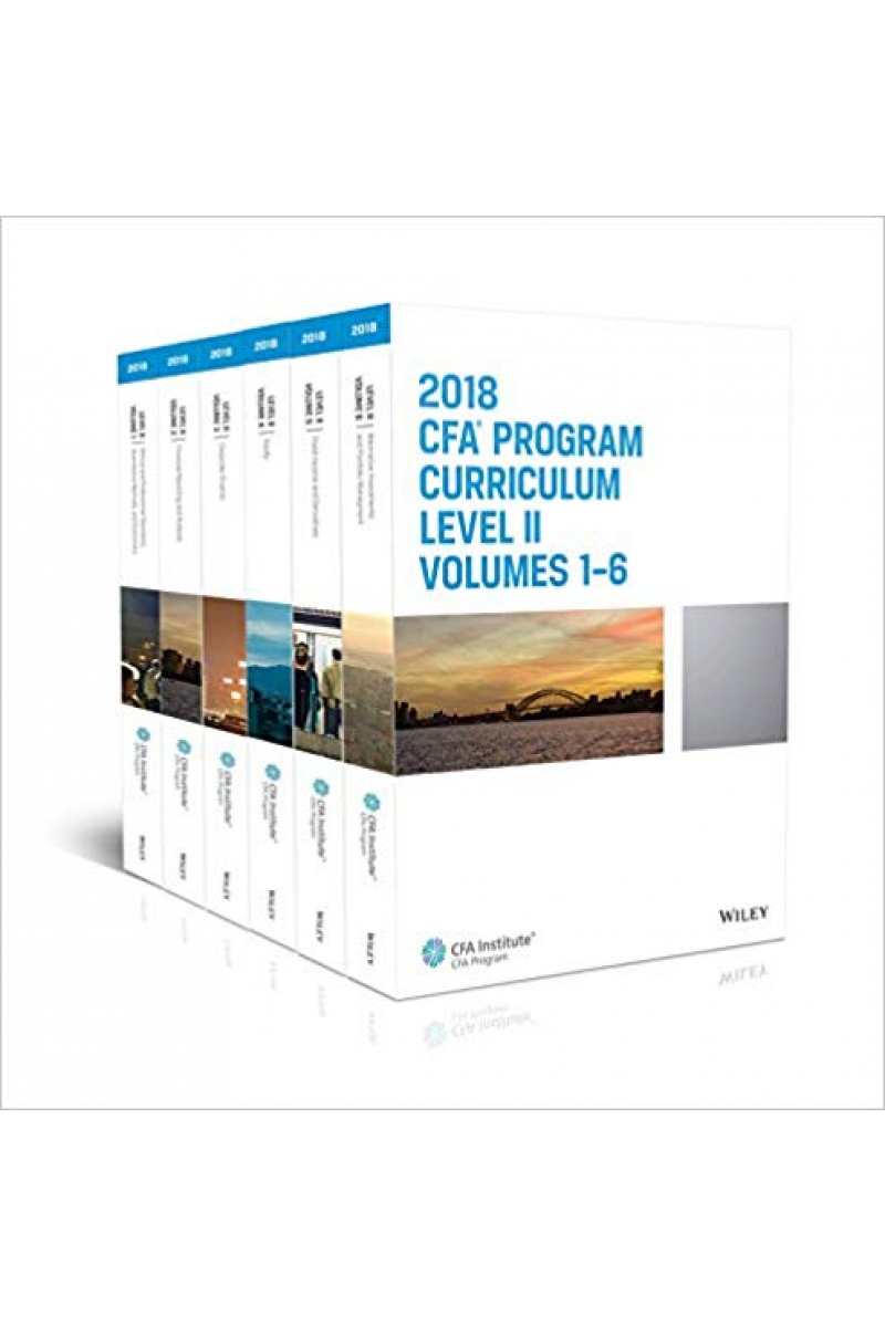 CFA program curriculum 2018 level 2 Volume 1-6