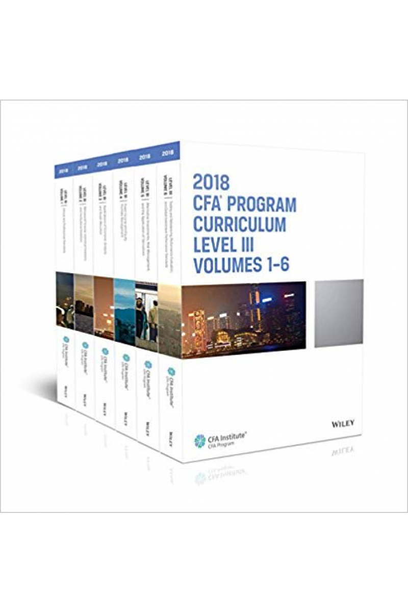 CFA program curriculum 2018 level 3 Volume 1-6