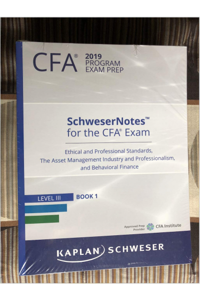 CFA 2019 schweser notes LEVEL 3 (kaplan, schweser) volume 1-5