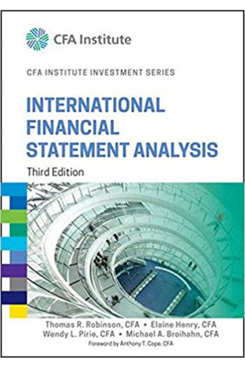 CFA institute investment series international financial statement analysis 3rd (robinson, henry, pir