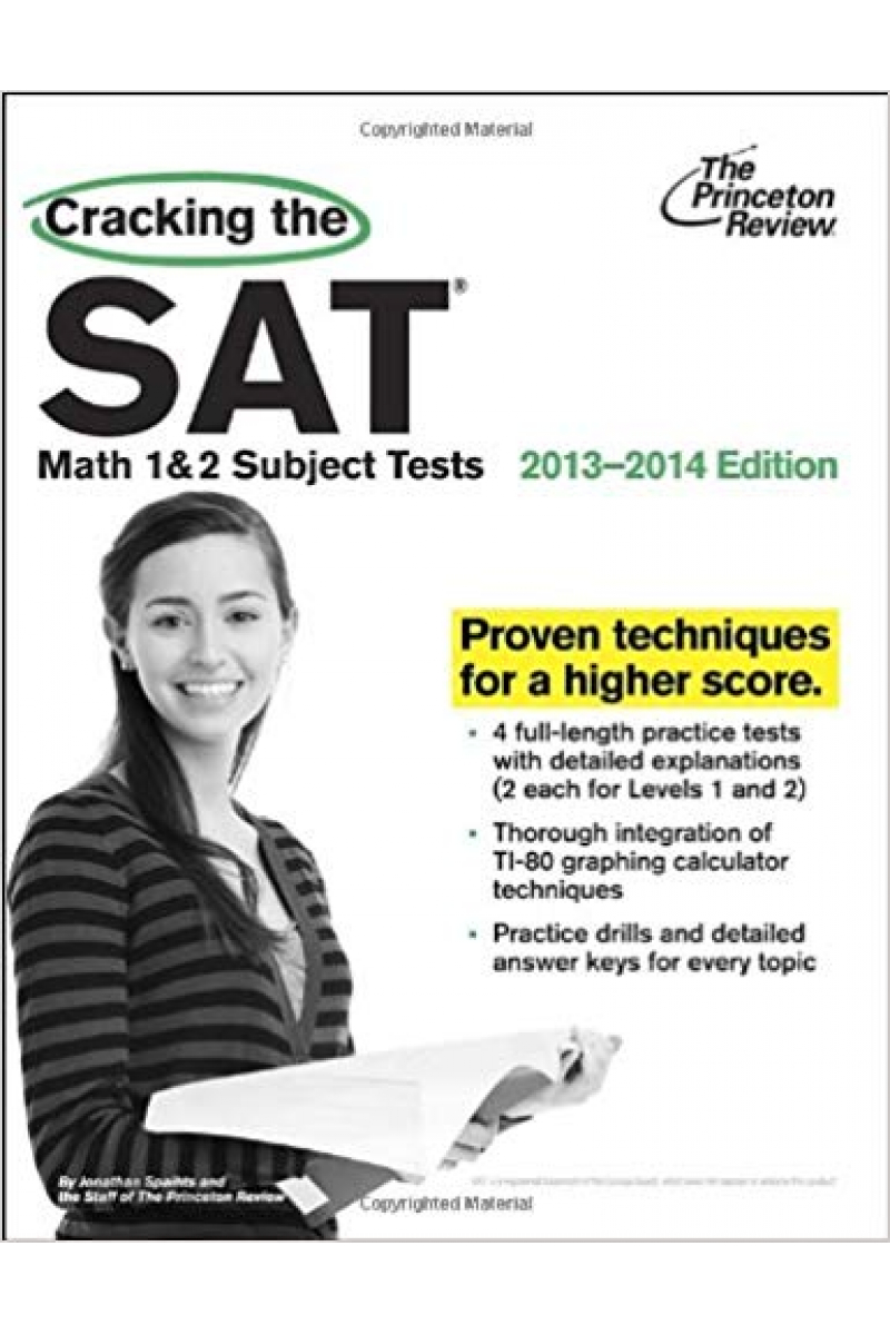 cracking the SAT math 1&2 subject tests 2013-2014