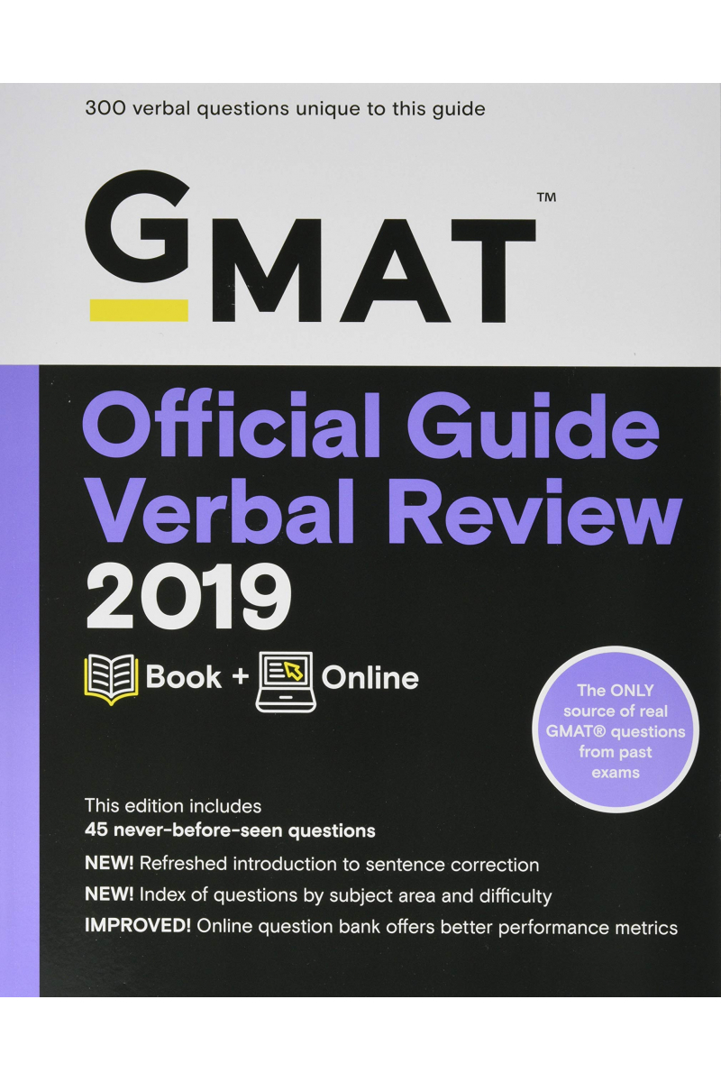 official guide verbal review GMAT 2019