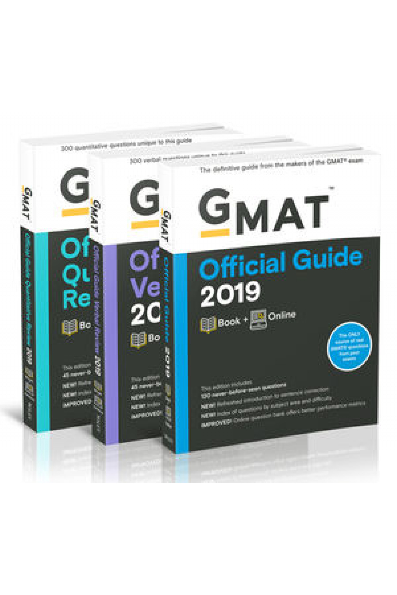 official guide GMAT 2019 + verbal review + quantitative review SET