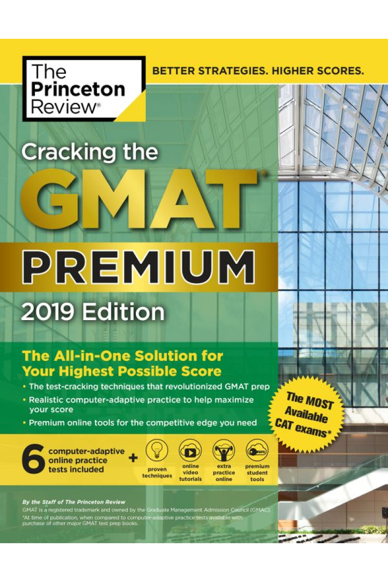 cracking the GMAT premium 2019 the princetion review