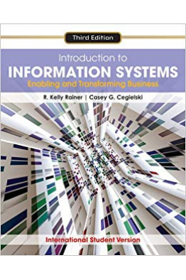 Bookstore introduction to informations systems 3rd (r. kelly rainer)
