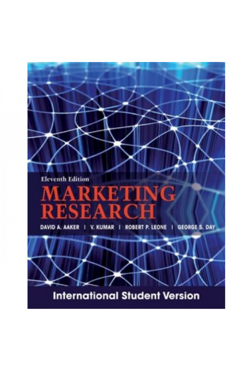 marketing research 11th (aaker, kumar, leone, day) ISE