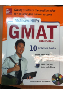 GMAT 2014 edition 10 practice test McGraw-Hill's + CD