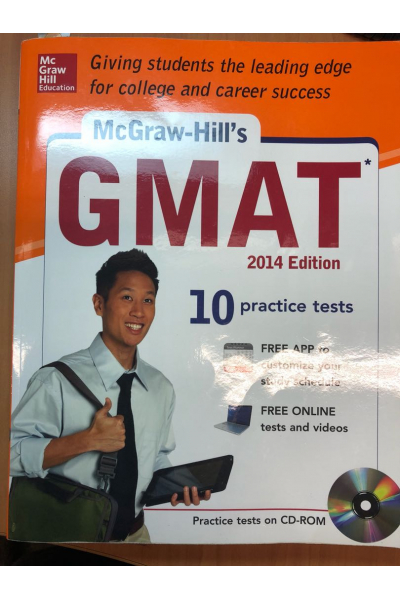 Bookstore GMAT 2014 edition 10 practice test McGraw-Hill's + CD