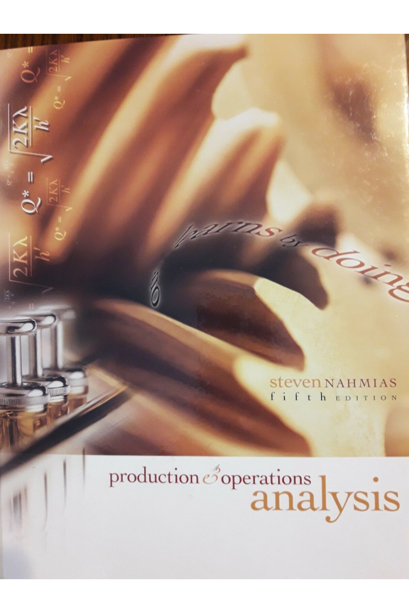 production and operations analysis 5th (steven nahmias)