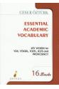 Essential Academic Vocabulary Cesur Öztürk 16. Baskı
