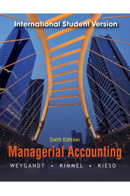 Bookstore managerial accounting 6th (jerry j. weygandt, paul d. kimmel, donald e. kieso)