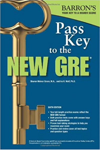 Bookstore BARRON'S NEW GRE Pass Key To The 6th (green, wolf) +CD