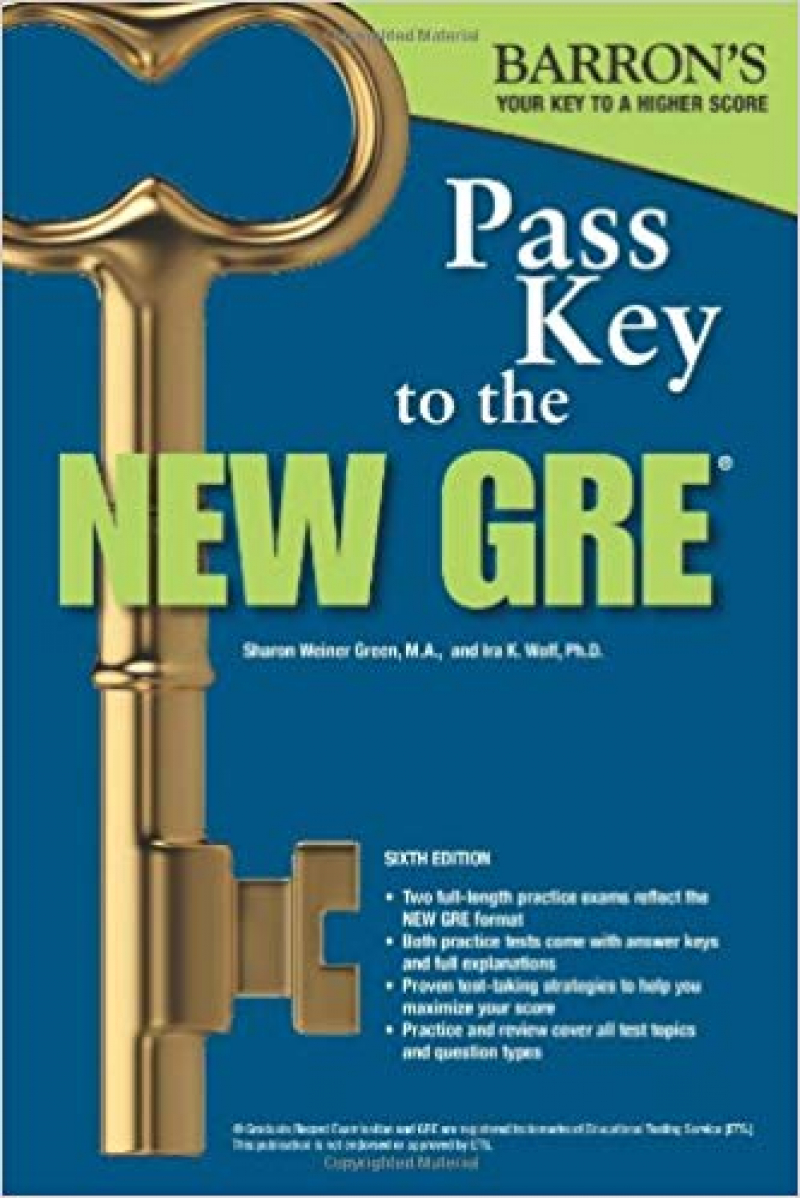 BARRON'S NEW GRE Pass Key To The 6th (green, wolf) +CD