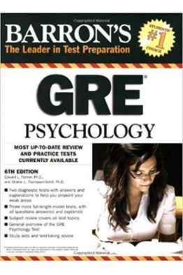 Bookstore BARRON'S GRE PSYCHOLOGY 6TH
