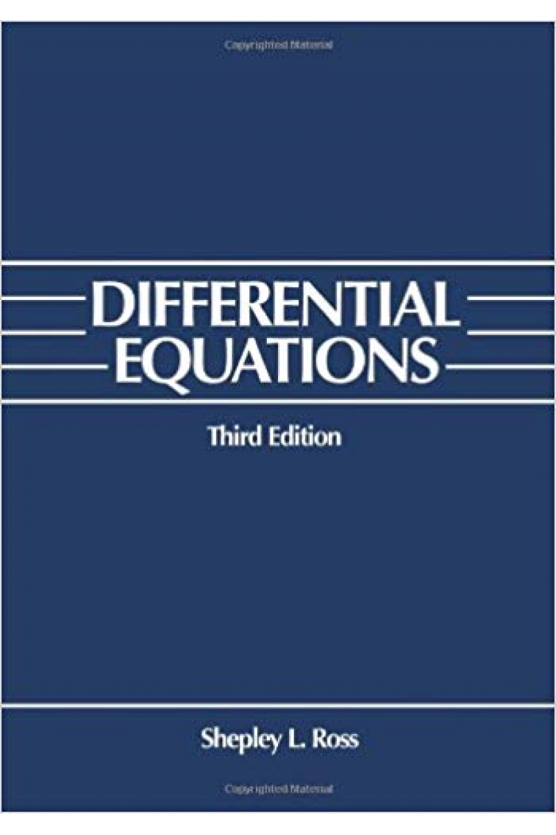 differential equations 3rd (shepley l. ross)
