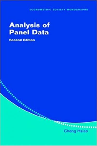 analysis of panel data 2nd (cheng hsiao)