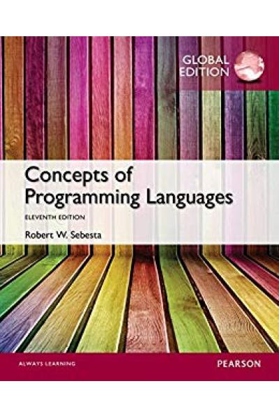 Concepts of Programming Languages 11th (Robert W. Sebesta) Concepts of Programming Languages 11th (Robert W. Sebesta)