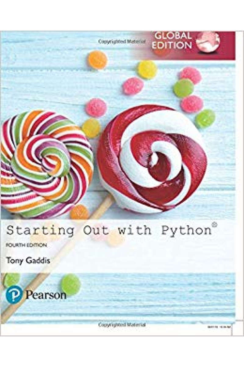 starting out with python 4th (tony gaddis)