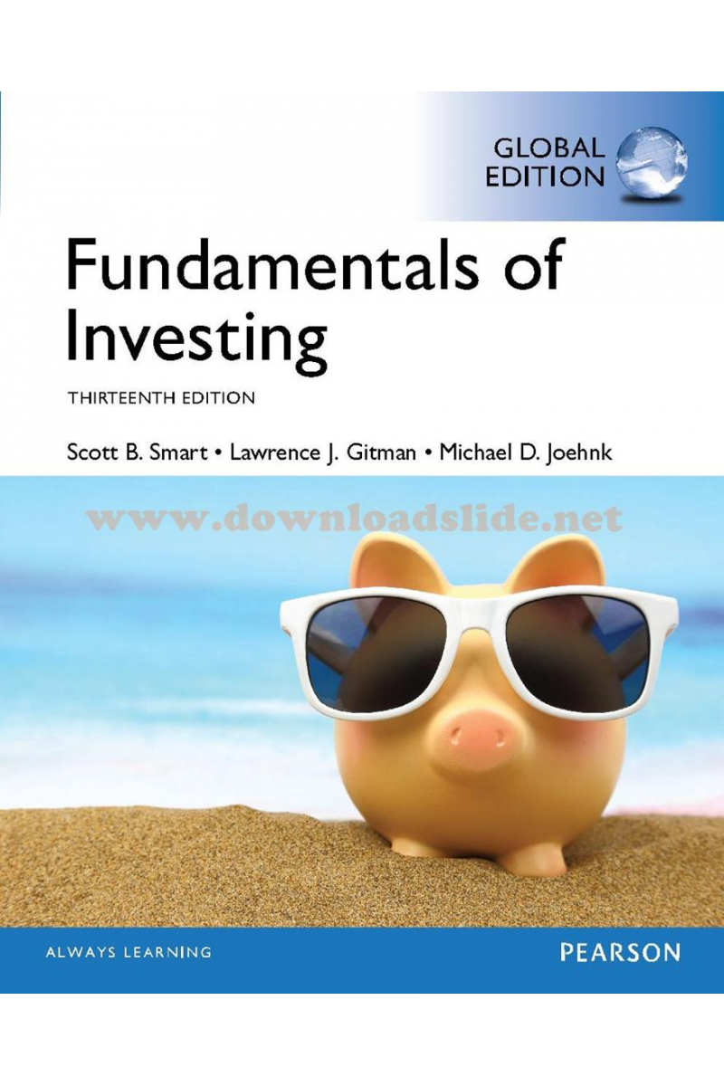 fundamentals of investing 13th (smart, gitman, joehnk)
