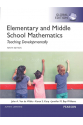 elementary and middle school mathematics 9th (walle, karp, williams)