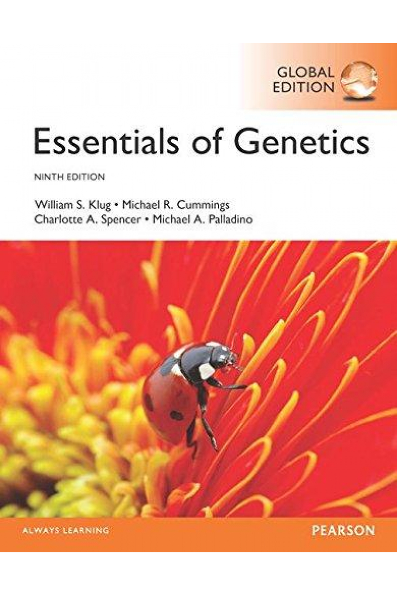 essentials of genetics 9th (klug, cummings, spencer, palladino)