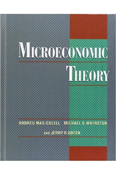 microeconomic theory (green, mas-colell, wainston)