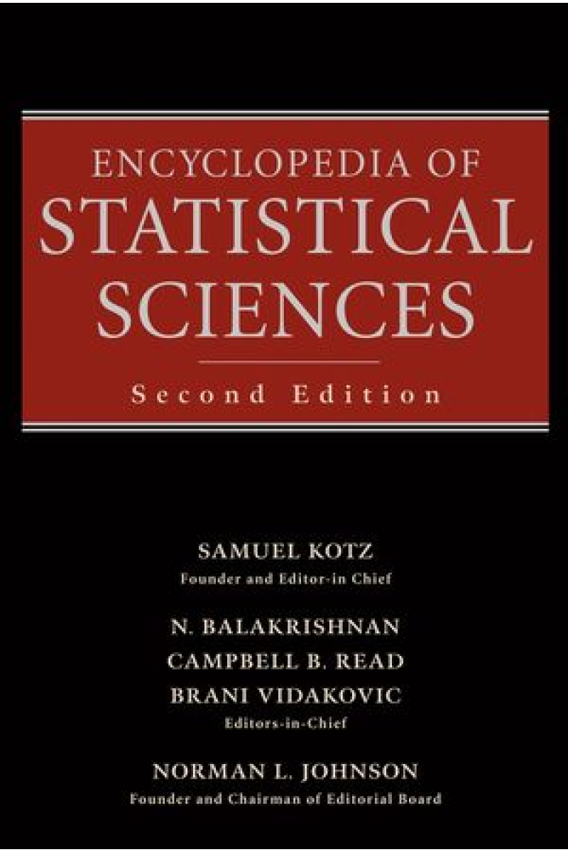 encyclopedia of statistical sciences 2nd second edition