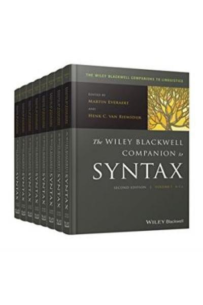 the blackwell companion to syntax (everaert, riemsdjik) 2006