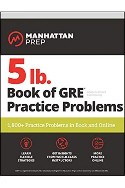 manhattan prep 5lb book of GRE practice problems 2018