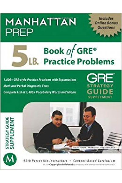 manhattan prep 5lb book of GRE practice problems 2013