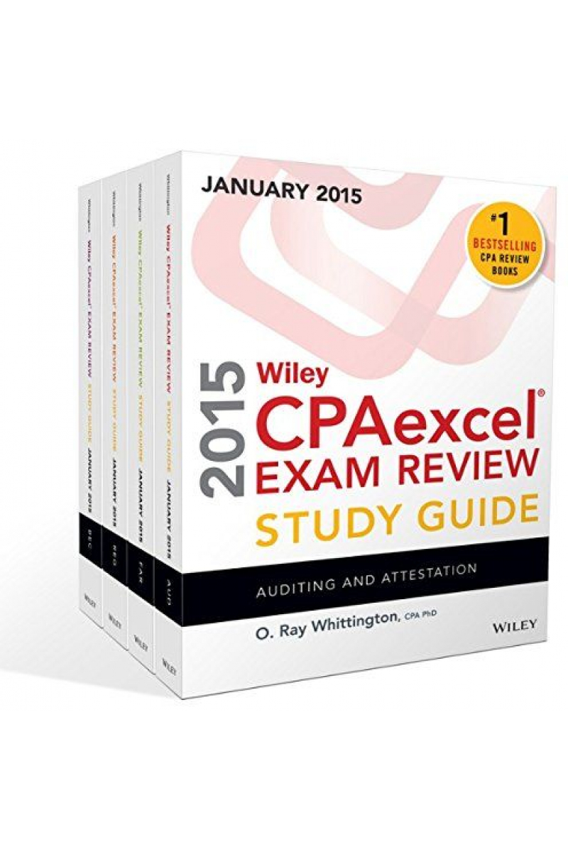 wiley CPAexcel exam review study guide (ray whittington) 2015 january SET