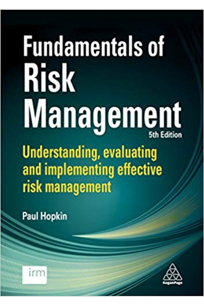 fundamentals of risk management 5th fifth (paul hopkin) 2018