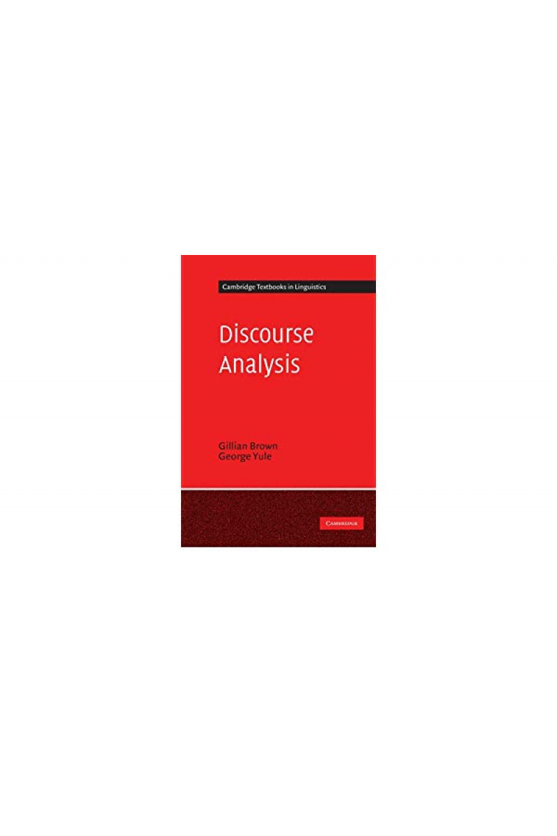 discourse analysis (gillian brown, george yule) 1983