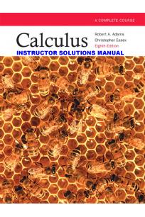 instructor's solution manual calculus 9th (robert adams)