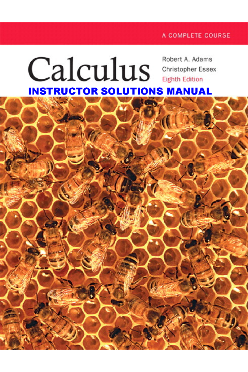 instructor's solution manual calculus 9th (robert adams)