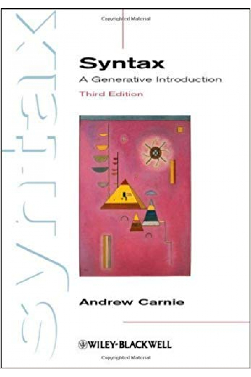 syntax a generative introduction 3rd (andrew carnie)