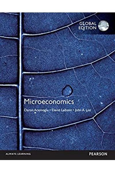 microeconomics  (daron acemoğlu, laibson, list)