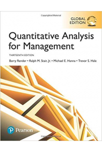quantitative analysis for management 13th (barry render)